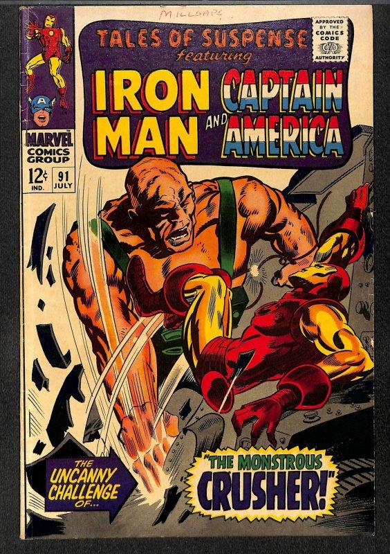 Tales Of Suspense #91 VG 4.0 Iron Man