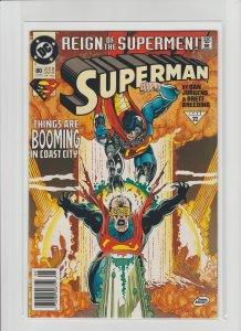 Superman 80 VF/NM 9.0 (1993, DC) Newsstand Variant!