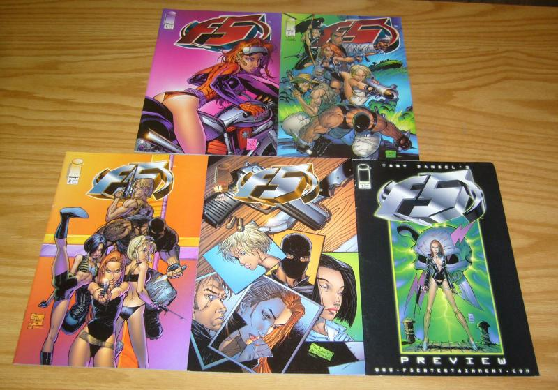 Tony Daniel's F5 #1-4 VF/NM complete series + preview  image comics bad girl set