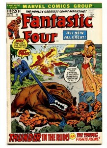 FANTASTIC FOUR #118 1972-INVISIBLE GIRL-TORCH-THING-FF VF/NM