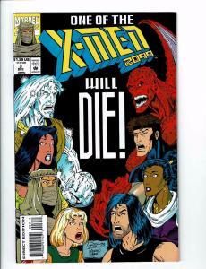 Lot Of 4 X-Men 2099 Marvel Comic Books # 3 5 8 9 Wolverine Gambit Storm J114