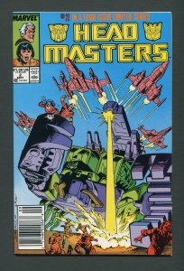 Transformers Headmaster #2  / 9.2 NM-  Newsstand  September 1987