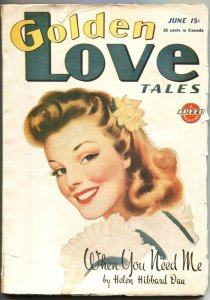 GOLDEN LOVE TALES #2-JUNE 1946-FROM THE PUBLISHERS OF SPICY PULP TITLES-RARE