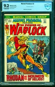Marvel Premiere #2 CBCS NM- 9.2 Off White to White Comics