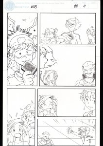 Ninja High School #88 Page 11 Original Comic Book Art -Ben Dunn