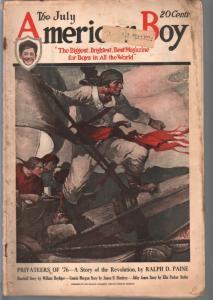 American Boy 7/1923-Schoonover pirate cover-adventure-pulp fiction-G