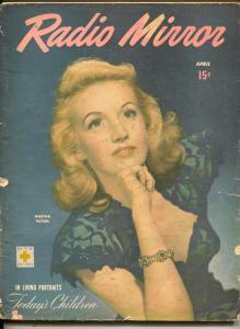 Radio Mirror-Martha Tilton-Art Linkletter-Kate Smith-Mel Blanc-April-1946