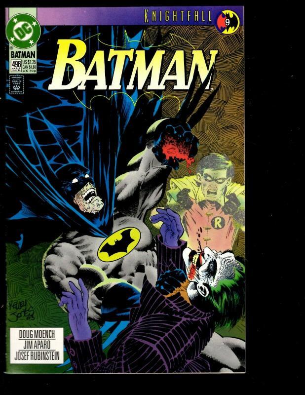 Lot of 8 Batman DC Comic Books 499 498 496 479 468 458 442 441 Bruce Wayne JF10