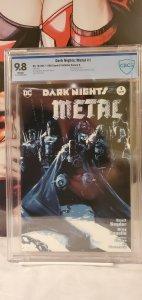 DARK NIGHTS METAL #1 CBCS 9.8 KRS COMICS JOCK COVER BLUE VARIANT EDITION BATMAN