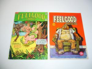 Feelgood Funnies #1-2 FN complete series - underground comix - sturgeon set