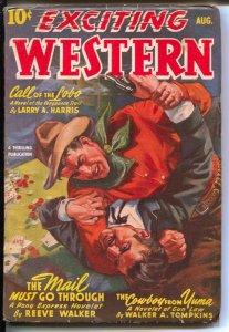 Exciting Western 8/1943-Thrilling- Alamo Paige of Pony Express-Navajo Raine-b...
