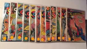 Superman 12 Gd-fn Lot Run Set 250 251 257 258 266 271 291 292 293 295 317 338