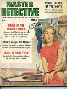MASTER DETECTIVE-AUGUST 1961-G-SPICY-MURDER-RAPE-ORGIES-KIDNAP-MASSACRE G