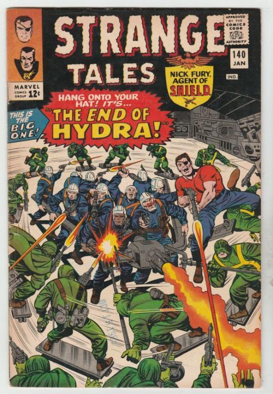 Strange Tales #140 (Jan-66) VF High-Grade Nick Fury, S.H.I.E.L.D., Dr. Strange