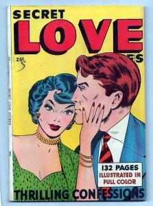 SECRET LOVE STORIES 1, VF (8.0), 1949 FOX PUBLICATION, COOL FOX GIANT