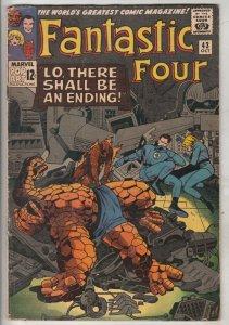 Fantastic Four #43 (Oct-65) FN+ Mid-High-Grade Fantastic Four, Mr. Fantastic ...