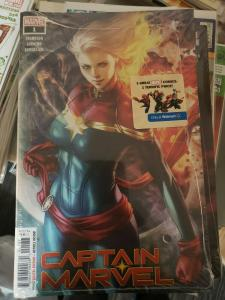 Captain Marvel #1 Artgerm Walmart Exclusive Variant Cover Marvel Comic Book