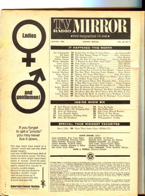 TV Radio Mirror-Lawrence Welk-Larry Casey-Carol Burnett-Leonard Nimoy-Sept-1968