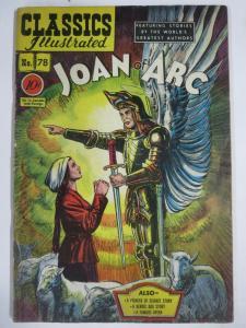 CLASSIC ILLUSTRATED #78 (G) JOAN OF ARC (1ST Edition, HRO=78) Dec 1950