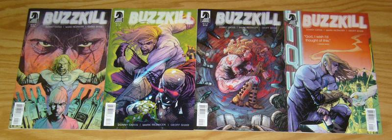 Buzzkill #1-4 VF/NM complete series - hero gets powers from alcohol -donny cates