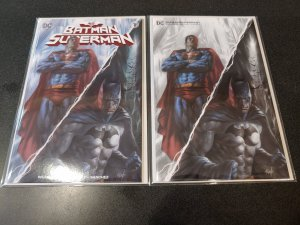 Batman/Superman #1 Lucio Parillo B&W Variant Set