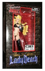 Rare Femme Fatales Lady Death PVC Figure C2E2 2011 Signed Pulido #47/100 - New!