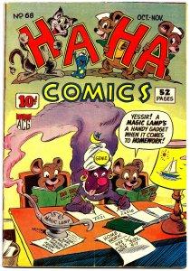 HA HA COMICS #68 (Oct1949) 7.O VFN! Ken Hultgren Cover! Dan Gordon! Jim Tyer!
