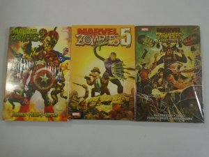 Marvel Zombies HC lot 3 different books NM small rip in cellophane (2008-12)