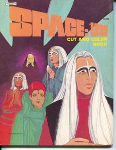Space:1999 Cut and Color Book C2484 1975-Saalfield-uncut & uncolored-VF