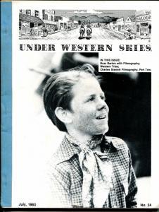Under Western Skies #24 7/1983-Buzz Barton & Charles Starrett filmographies-FN