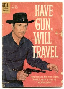 Have Gun Will Travel #7 1960- Dell western- Richard Boone- reading copy