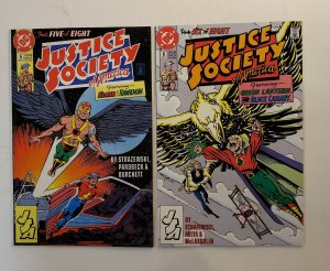 JUSTICE SOCIETY OF AMERICA #1-8 COMPLETE SET DC 1991 VF/NM