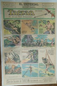 Tarzan Sunday Page #602 Burne Hogarth from 9/20/1942 in Spanish ! Full Page Size
