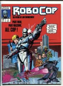 Robocop #1 1987 Marvel Magazine Comic book First issue nm-