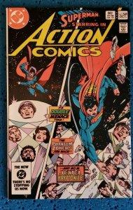 Action Comics #548 (DC, 1983) VF/NM 9.0 Superman It's Double Menace Time