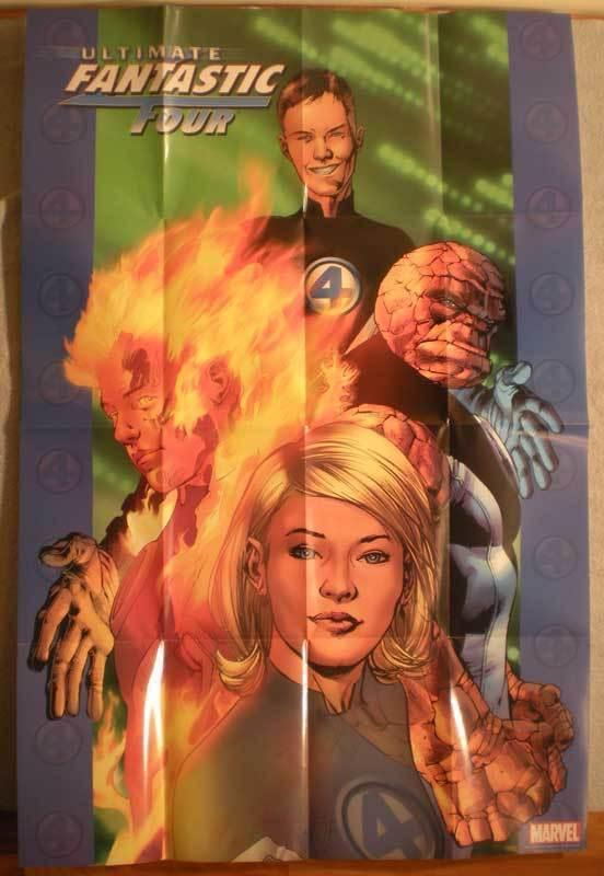 ULTIMATE FANTASTIC FOUR Promo poster, 24x36, Unused, more Promos in store