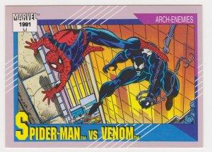 1991 Marvel Universe #91 Spider-Man vs Venom