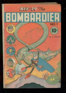 BEE 29 THE BOMBARDIER #1 1945-WW II PATRIOTIC FUNNY ANI VG-