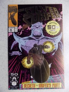 SILVER SURFUR # 50 MARVEL EMBOSSED COVER THANOS CLASSIC