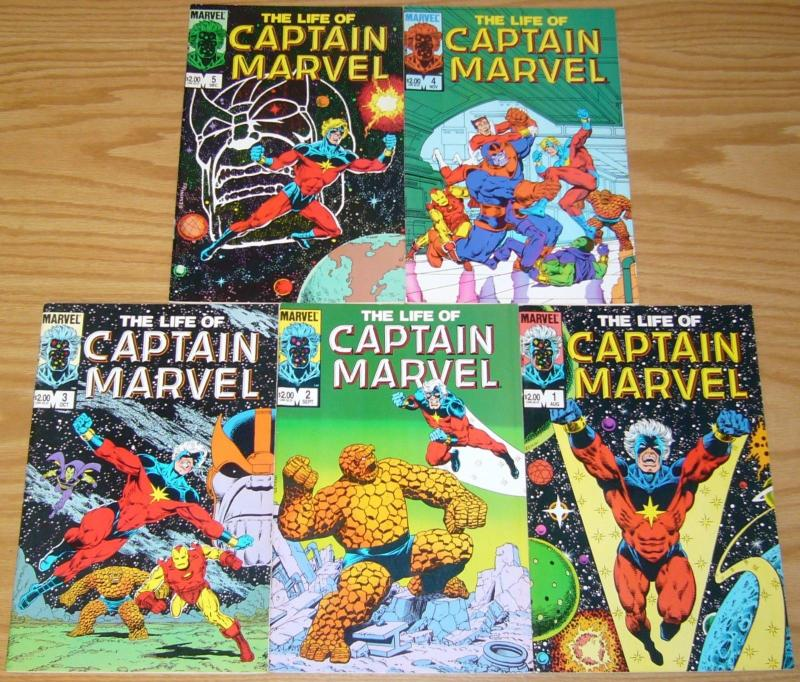 Life of Captain Marvel #1-5 VF/NM complete series THANOS iron man 55 JIM STARLIN