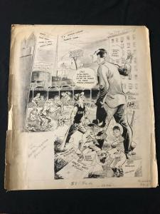 Gene Bassett Original Sporting News Art January 22 1958
