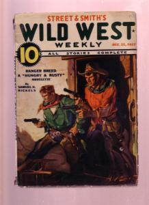 WILD WEST WEEKLY DEC 25 1937-PULP-BILLY THE KID-FLASH M VG