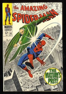 Amazing Spider-Man #64 VF 8.0 White Pages Vulture!