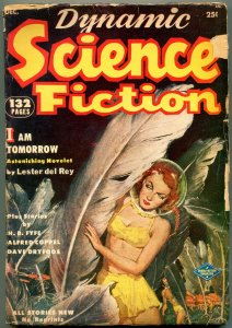 Dynamic Science Fiction Pulp #1 December 1952- Lester del Rey- Great cover G