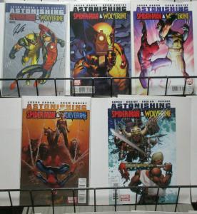 Astonishing Spider-Man and Wolverine (Marvel 2010) #1-5 Aaron + Kubert