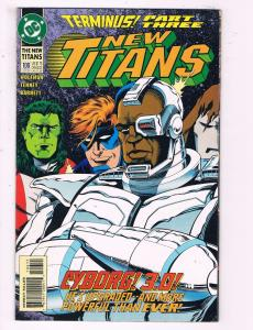 New Titans #106 VF DC Comics Terminus Pt.3 Comic Book Wolfman Cyborg 1994 DE14