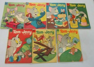 Tom and Jerry comic lot 7 different books (mostly Silver Age)