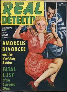 REAL DETECTIVE MAY 1942-WILD TRUE CRIME-PULP-MAGAZINE-CONVICT MENACES BABE VG