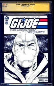 G.I. Joe #266 BLANK CGC SS 9.8 signed ORIGINAL STORM SHADOW SKETCH Brian Adkins