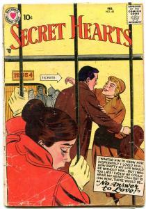 SECRET HEARTS #45 1958-DC ROMANCE G